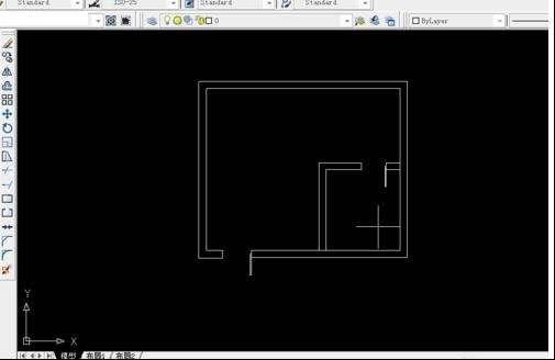 那么如何去画平面设计图中的门呢? 2.如下图,单击这一点进行拖动.
