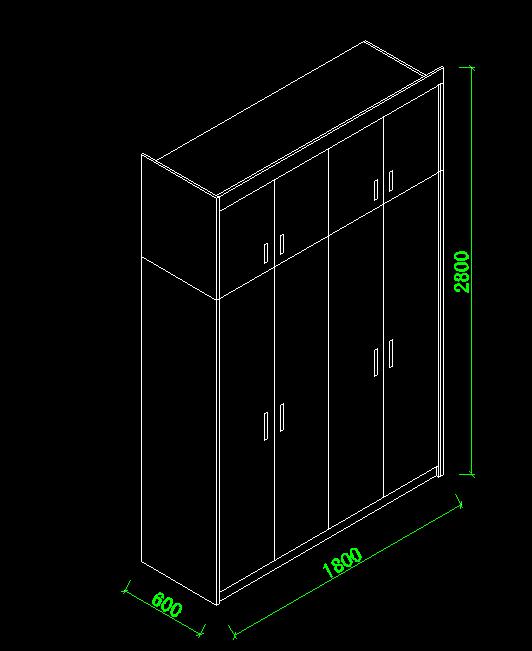 autocad实例制作 cad怎么绘制衣柜轴测图?图片