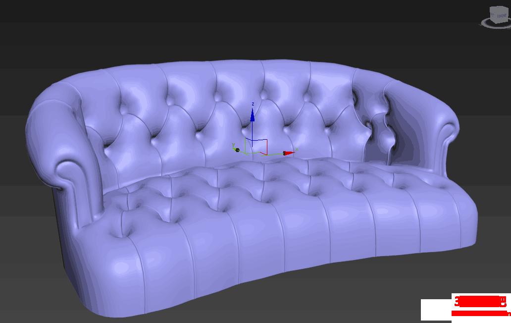 3dmax家俱建模 半圆弧形沙发模型的建模教程