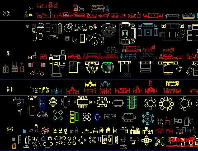 设计公司常用的CAD图块图库,综合图库