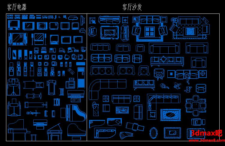工装家装CAD室内设计平面立面图块素材,综合图库