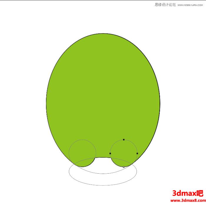 鼠绘绿色独眼卡通小怪兽图片的PS教程