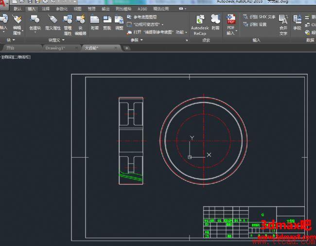 AutoCAD2018绘制齿轮零件图