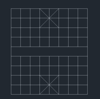 用CAD怎么绘制中国象棋棋盘?