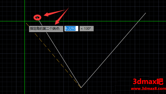 CAD怎么标注大于180的角度
