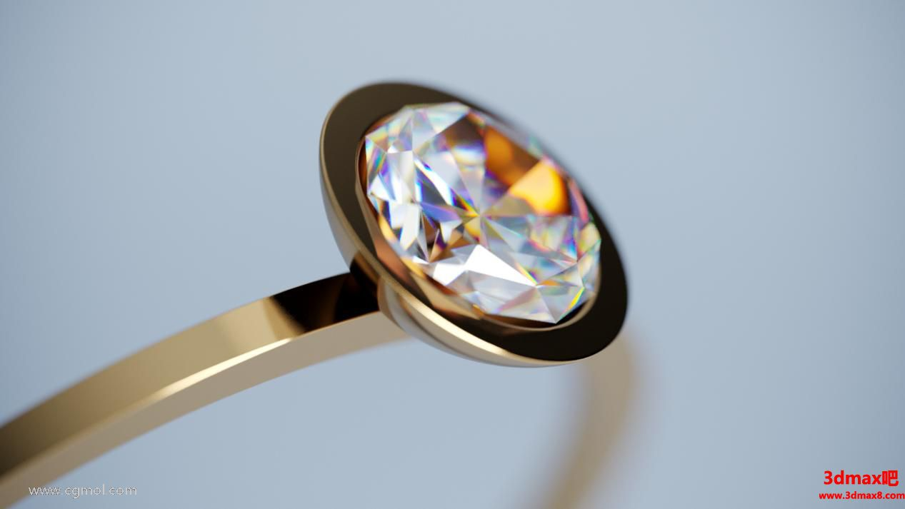 钻石戒指色散打开