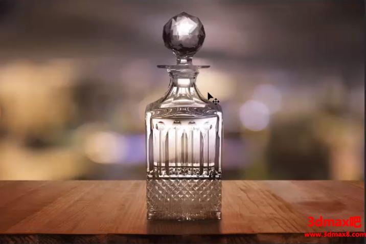 抠取精致香水透明玻璃瓶图片的PS技巧